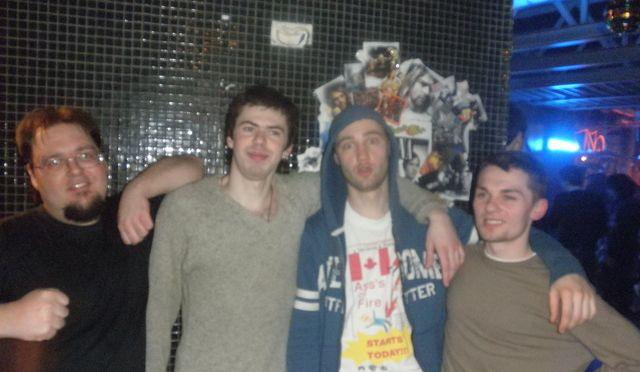 Квартет Lapsha :) Слева направо: Дима, я, Сирожа, Андрей :)