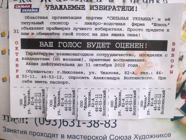 Украина, Выборы 2010