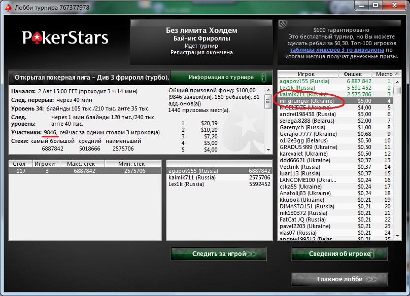 Открытая покерная лига 3