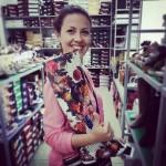 Настя выбрала обувь на свадьбу :)