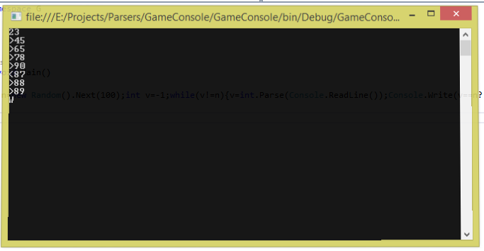 C# Console